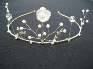 this beautifully hand made tiara is perfect to make you feel like the elegant ice queen herself